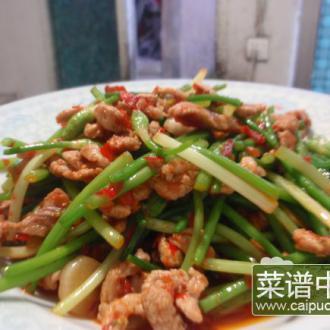 韭菜花炒肉丝(糟辣椒