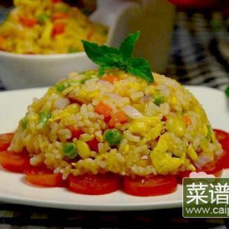 茄汁什锦炒饭