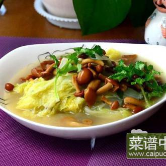 滑子菇炖白菜