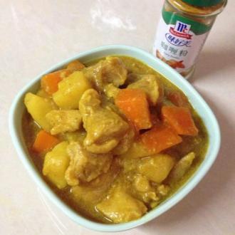 咖喱鸡浓汤