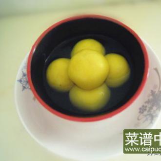 南瓜红豆汤圆