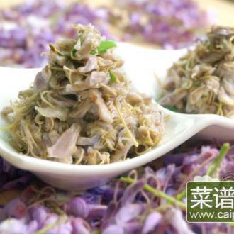 清炒紫藤花