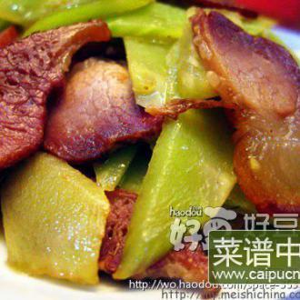 莴笋炒酱肉