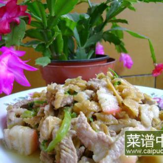 冬菜炒肉丝