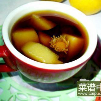 罗汉果菊花雪梨茶