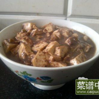 虾酱炖豆腐