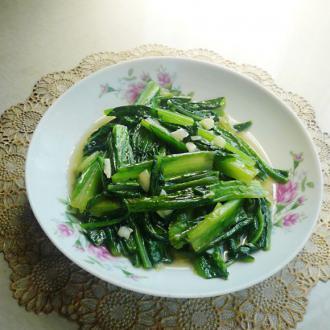 鱼露炝油麦菜