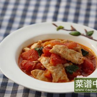 番茄鲟鱼片