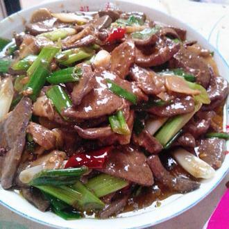 泡生姜炒猪肝