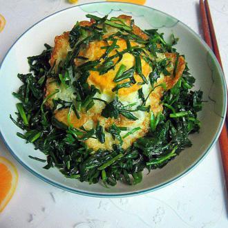 鲜韭菜炒荷苞蛋