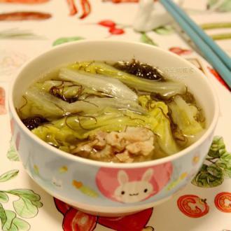 白菜发菜汤