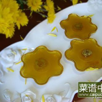 水晶菊花糕