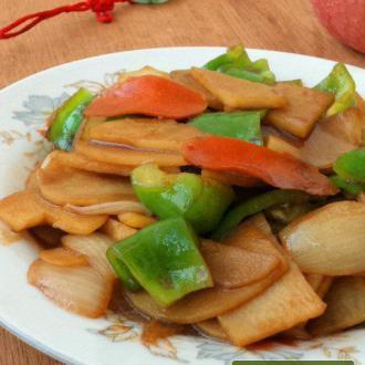 洋葱青椒炒土豆