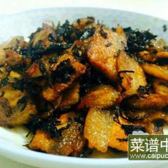 霉干菜炒肉片