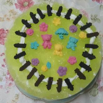 酒冻酸奶慕斯蛋糕