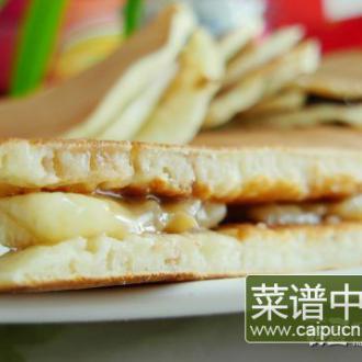 香蕉夹心松饼