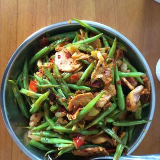 四季豆炒回锅肉