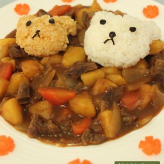 可爱小熊咖喱饭