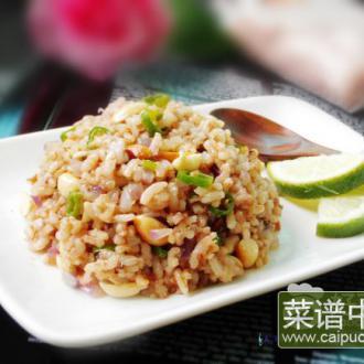 泰式辣炒花生红米饭