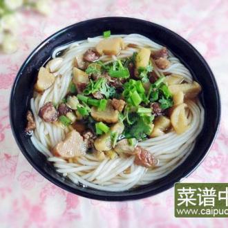腌萝卜米线