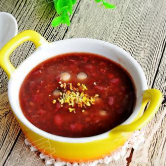 桂花赤豆汤
