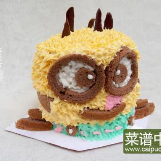 3D小黄人裱花蛋糕