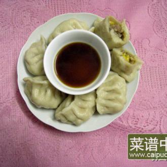 蘑菇玉米饺子