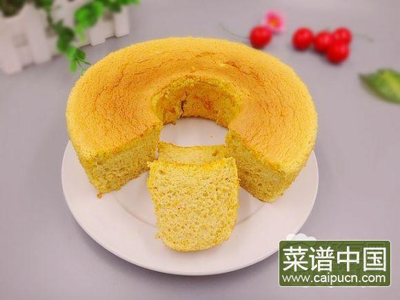 蛋黄果戚风蛋糕