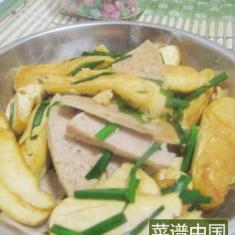 肉饼炒豆腐