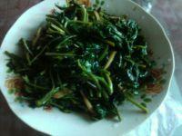 炝炒蕹菜的做法步骤6