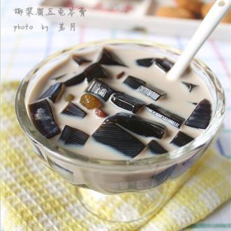 椰浆蜜豆龟苓膏——两