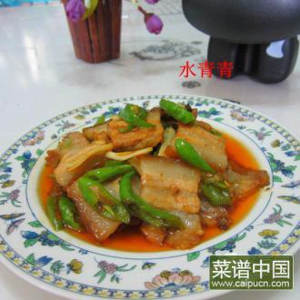 蒜片辣椒炒烤肉