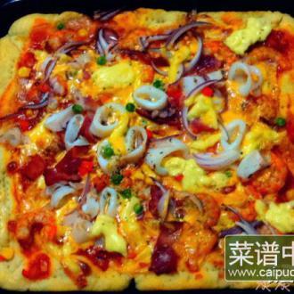 海鲜披萨—家庭装