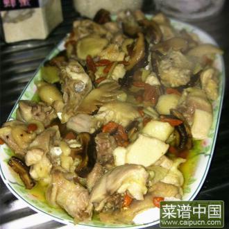 香菇杞子蒸鸡
