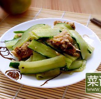 青瓜炒白切鸡
