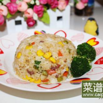 牛肉蔬菜粒炒饭
