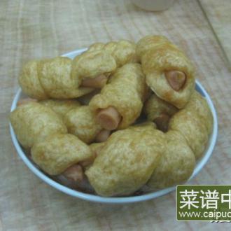 玉米肠馒头卷