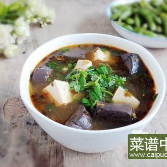 豆腐鸡血酸腌菜汤