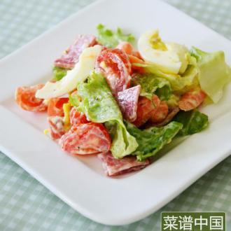 萨拉米蔬菜沙拉