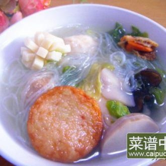 鱼丸什锦汤