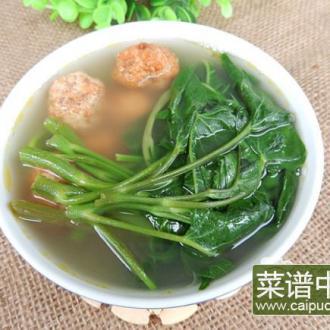 空心菜肉圆汤