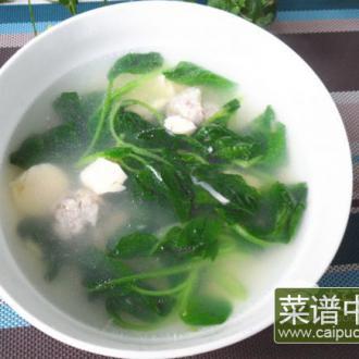 玉子豆腐肉圆汤