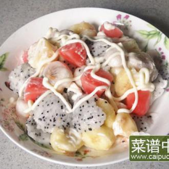 山竹火龙果水果沙拉