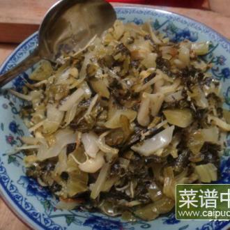 姜丝炒酸咸菜