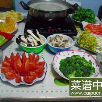 素什锦高汤火锅