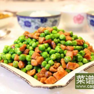 青豌豆嫩肉丁