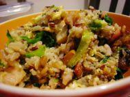 香菇培根什锦炒饭的做法步骤8