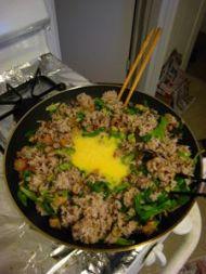 香菇培根什锦炒饭的做法步骤7