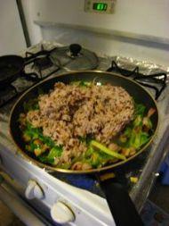香菇培根什锦炒饭的做法步骤6