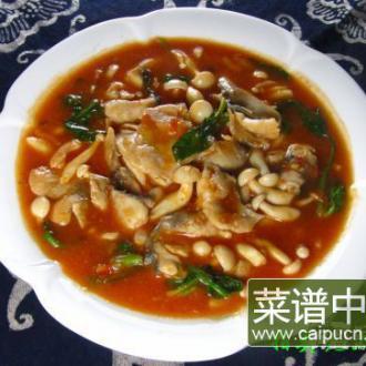 番茄蘑菇鱼片